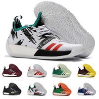 competitive price ab1e2 73f0c Zapatillas de baloncesto James Harden Vol.2 de alta calidad para hombre  Moda Negro Blanco Rojo Verde Naranja Azul Gris Marrón Vino Zapatillas  deportivas