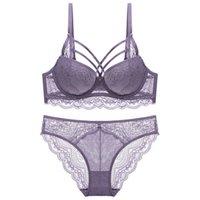 sexy dicke dessous großhandel-Neuer sexy Spitzen-BH Bester Verkauf BH auf dünne starken gesammelt Unterwäsche Push-up-Wäschesatz gesetzt