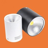 Wholesale whites lamps products resale online - Cob w Warm White Cold White Dimmable Down Lamp Surface Mounted High Grade Shell Advantage Products High Quality Light Ac85 v