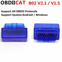 obd obd2 adapter großhandel-100 teile / los DHL Super Mini Elm327 Bluetooth OBD2 V2.1 OBD 2 Auto Diagnoseschnittstelle Scanner OBDII Adapter Selbstdiagnosewerkzeug