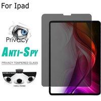 antideslumbrante para ipad al por mayor-Vidrio templado de privacidad para iPad Pro 11 Air 2 Película protectora de pantalla de vidrio Anti-pío para Apple IPAD Pro 9.7 10.5 Vidrio antideslumbrante