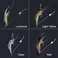 Wholesale fly fishing baits lures resale online - 90mm g Soft Simulation Prawn Shrimp Fishing Floating Shaped Lure Hook Bait Bionic Artificial Shrimp Lures with Hook DHL