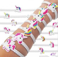 Wholesale characters kid bracelets for sale - Group buy NEW Unicorn Bracelets Birthday Party Favors Supplieggs for Kids Girls Emoticon Toys Prizes Gifts DHL Free Shopping