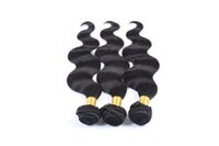 ingrosso onda onde corpo nero-Jet Black Colour Malaysian Body Wave 10-28 pollici Tessuto 100% capelli umani Bundles Non trasformati Double Weft Hair Weaving