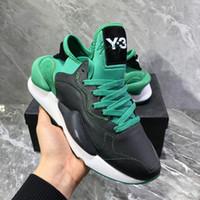y3 черный оптовых-С коробкой оригинал качества мужские Y3 кайва коренастый кроссовки 2019 женская обувь унисекс мужская мода Y-3 черный / зеленый красный белый обувь ботинки Y3
