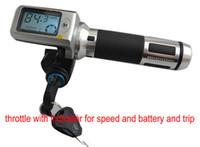 scooters retorcidos al por mayor-Manillar rodante con acelerador giratorio para bicicleta eléctrica scooter triciclo MTB 36v48v60v con cerradura / llave / indicador de batería de velocidad de crucero