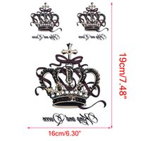 Wholesale tattoo king resale online - Removable Waterproof Temporary Tattoos Body Art Stickers King and Queen Crown