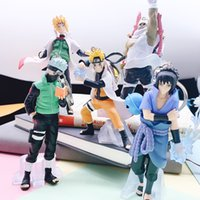 Wholesale naruto keychain anime for sale - Group buy 5pcs set Japanese Anime Naruto Action Figure Anime Keychain D Kakashi Gaara Model Toys Bag Charms Pendant Collection Gifts