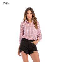 ротационная манжета оптовых-Рубашка-костюм Ma'am Lattice с вращающейся манжетой для женщин с лацканами и вставкой Easy Will Code с рюшами и бортиками s to xl