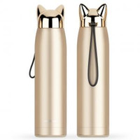 Wholesale thermos thermal bottle online - Lightning Fox Stainless Steel Bottle Thermos Double Wall Thermal PortableTravel Mug Water Vacuum Cup Home Tea Coffee Drink Bottle LJJT189