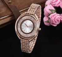 edle quarzuhr großhandel-Frauen Luxus Diffuse Diamant Uhr Mode Edle Hohe qualität boutique stahl Einfache Weihnachtsgeschenk dame freundin Quarz Frauen uhren