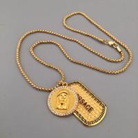 collier de créateur en or achat en gros de-Classique Femmes Mens Collier 18K Or Militaire Designer Collier Méduse Pendentif Colliers Bijoux Exquis Cadeau Vente Chaude