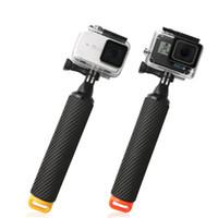 gopro mini wifi toptan satış-Hafif GoPro HERO 5/6/7 SJ Xiaomi yi Eylem Kamera için Uzatılabilir Kamera Selfie'nin Çubuk Aksiyon Kamerası El Monopod tripod