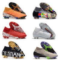 Wholesale youth cr7 soccer shoes for sale - Group buy Explosion High Top Men Soccer Shoes Neymar Soccer Mercurial Superfly V CR7 Vitórias Women Football Boots Ronaldo Youth Soccer Cleats