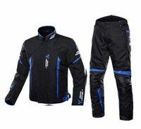 vestes de moto rembourrées achat en gros de-Protection Jacket équipement moto 7 pièces Tapis de protection Motocross Pantalon Veste imperméable Costume Jaqueta Hiver Printemps, H-1702