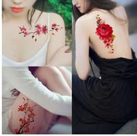 ingrosso fiori di henné-Nuovi 24 stili di fiori artificiali braccio spalla tatuaggio adesivi Flash Henna tatuaggio falso impermeabile tatuaggio temporaneo donne sul corpo