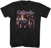 metal clássico camisetas venda por atacado-Cinderela Grupo Foto Glam Cabelo Heavy Metal Clássico Rock Band Concert T-shirt