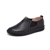 venda de sapato de carro venda por atacado-Hot Sale-Handmade genuínos calçados de couro ballet flat shoes mulheres sapatos casuais mulheres flats slip on leather car-styling flat shoes