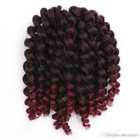 Wholesale mambo braiding hair twist resale online - 8 inch Wand Curl Crochet hair extensions g Havana mambo twist braiding hair Synthetic Crochet Braids hair extensions