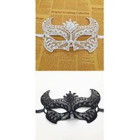 Wholesale hollow masks resale online - men wome Bull head Sexy Lace Mask Cutout Eye Mask For Masquerade Party Carnival Hollow Fancy Dress Costume Cosplay