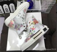 düşük tuval çizmeleri toptan satış-Eğik Erkek Marka Tasarımcı Ayakkabı Bayan Moda Sneakers Ayakkabı Çizmeli Kutu Çiçekler Teknik Tuval B23 düşük Üst Spor Ayakkabılar ile 2019