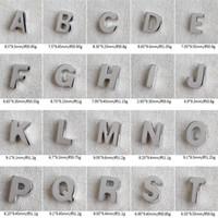 ingrosso collana della catena degli alfabeti-New Chic Style 925 Sterling Silver 26 Charms alfabeto inglese misura per collane ciondolo senza catena lettere collana fai da te