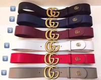 cinturón elástico negro del rhinestone al por mayor-Moda caliente Cuero de cuero de vaca hombres jeans cinturón Diseñador Lujo Famoso Hebilla automática de alta calidad de los hombres Cinturones para hombres