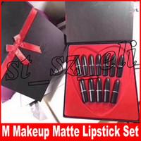 Wholesale frosted lipsticks for sale - Group buy M Makeup Frost Retro Matte Lipstick colors lip set Waterproof Long Lasting Lip Stick