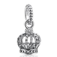 pulsera de serpiente de plata de ley vintage al por mayor-La nueva corona de plata esterlina de la vendimia cuelga los encantos auténtica joyería de plata esterlina 925 en forma europea pulsera de la serpiente Diy haciendo HB117