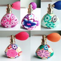 Wholesale selling empty perfume bottles resale online - Triangular Type Empty Spray Bottle Flower Perfume Bottles Popular Portable Reusable Sell Well With Various Pattern ml J1