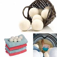 tissu feutré blanc achat en gros de-Balles de séchage en laine Un assouplissant de tissu naturel réutilisable de première qualité