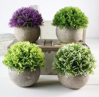 Wholesale artificial green plastic ball for sale - Group buy Fake Flower Grass Ball Styles Pe Plastic Bonsai Artificial Flowers Simulation Green Plant Restoring Ancient Ways Home Furnishing YYSY333