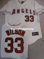 Wholesale cj jersey resale online - Cheap custom MAJESTIC Anaheim CJ WILSON Sewn Baseball JERSEY WHITE Mens stitched jerseys Big And Tall SIZE XS XL For sale