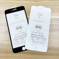 cristal claro delantero iphone al por mayor-Para el iphone 11 pro Promax película delantera 5D completa de vidrio templado claro de la pantalla del protector para el iPhone X / XR / X / X Max / 8/7/6 Acción lista