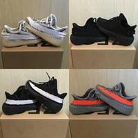 en sıcak bebek ayakkabıları toptan satış-Sıcak Satış Çocuklar Kanye West V2 Yansıtıcı Sneakers Kil Erkek Bebek Kız Bebek Eğitici Sneaker Zebra Siyah Gri Beyaz Ayakkabı Koşu Ayakkabı