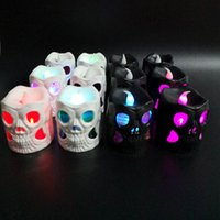 Wholesale ghost night light for sale - Group buy Pumpkin Lantern Halloween Decorate Ghost Festival Atmosphere Arrangement Skull Candle Light Color Gradient Night Lamp Hot Selling cy p1