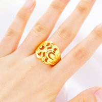 Wholesale sand car resale online - Plated K Gold Matte Car Flower Ring Female Sand Golden Copper Gold Plated Wedding Jewelry Girl Jewelry Ring Accessories Pop Style