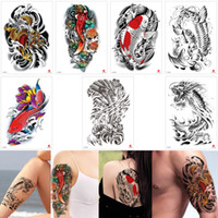 e1f4e2bca Fake Black Fish Temporary Tattoo Sticker Gold Dragon Colored Lotus  Waterproof Tattoo Decal Design for Woman Man Arm Leg Back Body Art Makeup