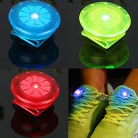 pinzas de ciclismo al por mayor-Clip de zapato luminoso exterior bicicleta LED Noche luminosa zapatillas de seguridad Clips Ciclismo deportes luz de advertencia de seguridad MMA1609