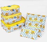 Wholesale mesh cosmetics bags resale online - 12styles Set Travel Storage Bag Clothes Organizer Pouch Waterproof Print Cosmetic Bags Zipper Wash Bags Mesh Makeup Bag FFA2521
