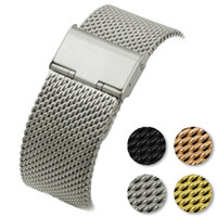 Wholesale mens stainless steel wristband for sale - for Samsung galaxy watch mm Milanese Strap Gear S3 Gear2 R380 R381 R382 Smart Watch Band Mens Coarse Mesh Stainless Steel Wristband