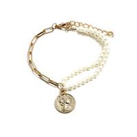 cadenas de perlas originales al por mayor-Vansno Nuevo estilo de verano pulsera de acrílico de múltiples capas elegante cadena de moda versión coreana pulsera original disco perla