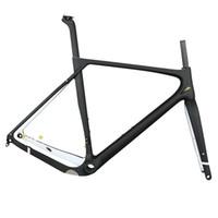 frenos de disco de bicicleta de carretera de carbono al por mayor-Nuevos cuadros de bicicleta Aero Carbon Cyclocross T1000 ligero carbono Gravel cuadro de bicicleta freno de disco Road Carbon Frameset