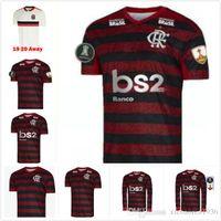 Wholesale long sleeves football jersey resale online - 2019 FLAMENGO home Long sleeve soccer jerseys brazil league red AWAY DIEGO WHITE brasil jersey football shirts