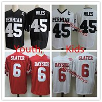 niños luces de noche de fútbol al por mayor-Youth # 45 Boobie Miles Friday Night Lights Jersey de fútbol cosido Niños # 6 AC Slater salvado por The Bell Bayside Tigers Movie Jersey S-2XL