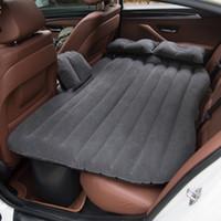 ingrosso cuscino di sede esterno gonfiabile-Materasso gonfiabile per materasso da viaggio gonfiabile ad aria per auto di alta qualità universale per sedile posteriore Cuscino per materassino da campeggio con cuscino multifunzionale