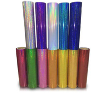 ingrosso vinile per artigianato-Scambio di calore Paillettes glitter Craft Vinyl Holographic Vinyl Iron su vinile HTV per DIY T-shirt o tessuti