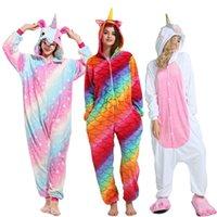 8efca0e213d94 Kigurumi Licorne Pyjamas Femmes Hiver Animal Cartoon Stitch Vêtements De  Nuit onesie Ensembles Hommes Unisexe Adulte Flanelle Pijama À Capuche pyjama