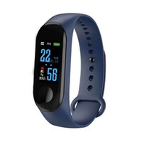 Wholesale pedometer gift online – M3 Smart Bracelet New Style Color Screen Sports Heart Rate Blood Pressure Sleeping Monitoring Pedometer Information Remind Gift