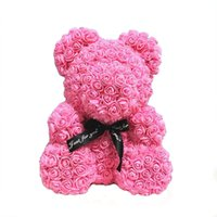 hediye kutuları için köpük toptan satış-ABEDOE Yapay Teddy bear Çiçek Ayı Köpük Gül Oyuncak Kutuları Düğün Dekor Çiçekler sevgililer Günü Hediye Gül